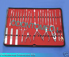 40 PIECE PROFESSIONAL NAIL MANICURE KIT TOOL SET