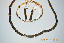 14kt GOLD FILLED Jewelry Set from Israel - Necklace, Bracelet and Earrings
