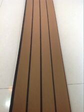 12.5 Meter Roll Boat Yacht Synthetic Teak Deck 190mm Wide With Black Caulking