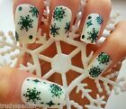 Christmas Black Snowflakes & Snow Balls Design 3D Nail Art Stickers Decals (511)