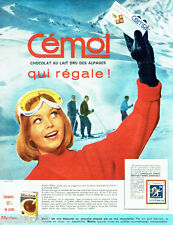 PUBLICITE ADVERTISING 016  1964  Cémoi chocolat au lait  Matina