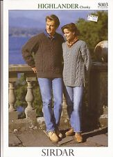 Sirdar Knitting Pattern -#5003 Highlander Chunky Tunic & Sweater for Men & Women