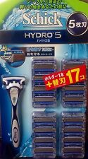 NEW Schick Hydro 5 Holder + Blade 17pc for Shaver Japan Import Official F/S