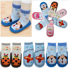 Cute Soft 6-24 Months Kids Baby Toddler Boy Girl Anti-Slip Socks Shoes Slipper