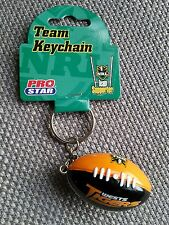 Brand New NRL West Tigers Football Keyring on Chain