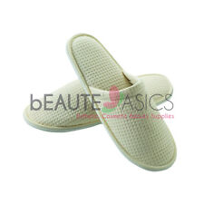 Cotton Waffle Spa Slippers Wedding Party Natural - as160nx1