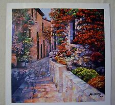 """HOWARD BEHRENS """"ROMANTIC WAY"""" GICLEE ON CANVAS SIGNED/# W/COA"""