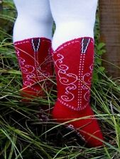 ITTY BITTY RED COWBOY BOOT TIGHTS BOOTZIES FOR YOUR BABY COWGIRL SZ 0-6 MOS