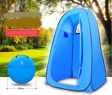 Blue POP UP Camping Shower Toilet Tent Outdoor Portable Change Room Shelter