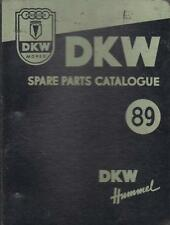 DKW HUMMEL MOPED ( STANDARD & DE LUXE ) ORIGINAL 1957 SPARE PARTS CATALOGUE
