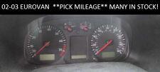 02-03 VW Eurovan 2.8L MPH Instrument Gauge Cluster Speedometer tach *Pick miles*
