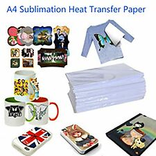 A4 Dye Sublimation Heat Transfer Paper 5 Sheets for Polyester Cotton T- Shirt