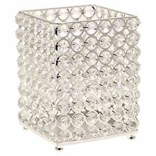 Silver Crystal effect Candle Holder 15.5cm high stunning light reflection tank