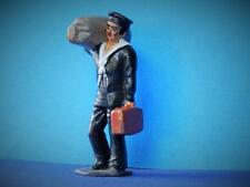 VINTAGE 50s RARE TIMPO STATION FIGURE LEAD SAILOR WITH KIT BAG RAILWAY PASSENGER