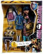 Nouveau officiel monster high cleo de nile i heart fashion doll set