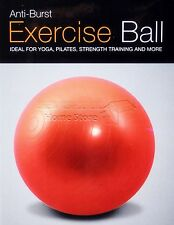 NEW ANTI BRUST GYM BALL SWISS EXERCISE YOGA BALL FITNESS CORE 65CM 25 INCH RED