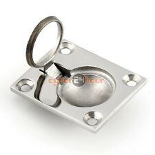 Ring Handle Flush Hatch Locker Cabinet Pull Lift Stainless Steel Boat Marine