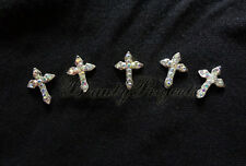 (5pcs) crystal 3D cross charm rhinestone nail art charms nails acrylic gel A84