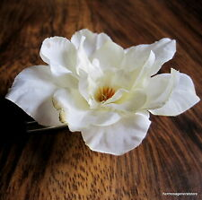 "2 1/2"" Cream White Apple Blossom Silk Flower Hair Clip,Hair Accessory,Bridal"