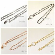 wholesale 4pcs mixed  necklace chain For Floating Memory Living Locket