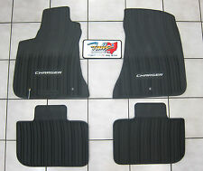 2011-2017 Dodge Charger RWD All Weather Rubber Slush Floor Mats Mopar OEM