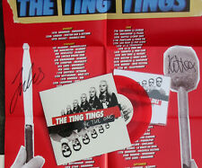 """THE TING TINGS Signed POSTER pack w / 7"""" + CD + POSTER -  SIGNED RED Vinyl MIX"""