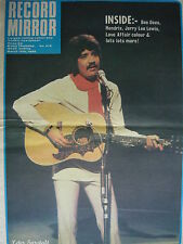 RECORD MIRROR MARCH 15TH 1969 - PETER SARSTEDT - JIMI HENDRIX - STATUS QUO