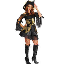 FANCY DRESS BUCCANEER PIRATE COSTUME ADULT 10-12 LADIES