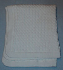 Vitamins White Cable Knit Baby Security Blanket Small Cotton Blankie 20x24""