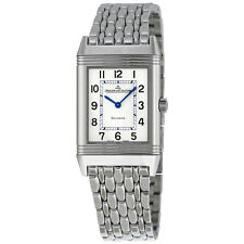 Jaeger LeCoultre Reverso Classic White Dial Stainless Steel Mens Watch Q2518110