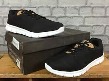 OILL MENS UK 8.5 EU 43 BLACK CORK PRAGUE MIX TRAINERS RRP £105