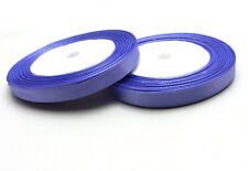 """Free shipping 3/8"""" 25Yards Solid color Satin Ribbon For Weddin Party Purple"""