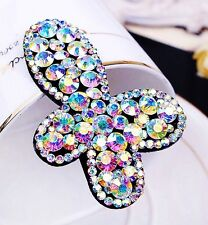 Quality Hair Clip Bobby Pin using Swarovski Crystal Hairpin Butterfly AB