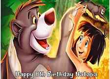 DISNEY JUNGLE BOOK EDIBLE PERSONALISED BIRTHDAY PARTY ICING CAKE TOPPER
