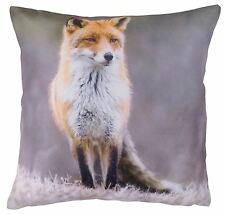 "CUTE COUNTRY ANIMAL FOX RED CREAM BEIGE CUSHION COVER 17"" - 43CM"