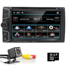 "6.2 "" In Dash 2DIN Car Stereo DVD Player GPS Bluetooth Navigation Sat Nav Camera"