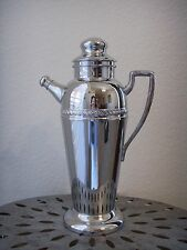 Antique Art Deco Forbes Silver Co CHROME Plate MARTINI SHAKER Cocktail Decanter