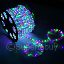 2x 150ft Multi-RGB LED Rope 110V 2 Wire Flexible DIY Lighting Christmas Outdoor