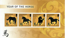 Montserrat 2014 MNH Year of Horse 4v M/S Lunar New Year Chinese Zodiac