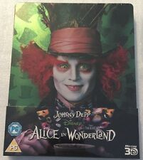 Alice In Wonderland Steelbook - UK Exclusive Limited Edition 3D & 2D Blu-Ray