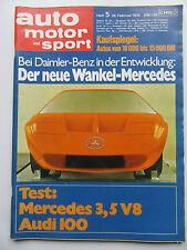 Auto Motor Sport 5/1970, Der neue Wankel Mercedes, Audi 100, Mercedes 3,5 V8