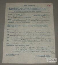 1940 Quebec Athletics Baseball Dooley Signed Contract