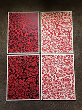 Floral Takeover Set of 4 Shepard Fairey Obey Giant Signed & Matching Numbered