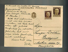 1942 Ferramonti Italy Concentration Camp postcard Cover to Hungary Judaica KZ