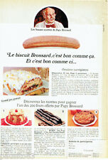 PUBLICITE ADVERTISING 096  1980  Le biscuit Papy Brossard grand jeu gratuit