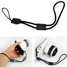 Camera Nylon Hand Wrist strap with Leather For Canon Nikon Olympus Panasonic