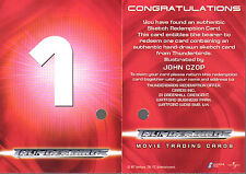 THUNDERBIRDS THE MOVIE CANCELLED REDEMPTION CARD 1 JOHN CZOP