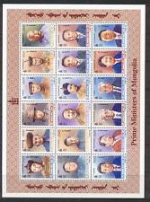 Mongolia 1998 Prime Ministers 18v sht ref:n17556