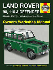 Land Rover Defender Repair Manual Haynes Manual Workshop Manual 1983-2007 3017