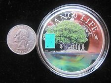 Discover the Evolution of Life 2015 Cook Islands 50 gr of SILVER with Nano Chip